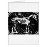 Horse skeleton white greeting card