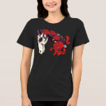 Horse Skeleton with Roses T-Shirt