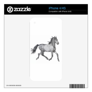 Horse Sketch Black And White Decals For iPhone 4S