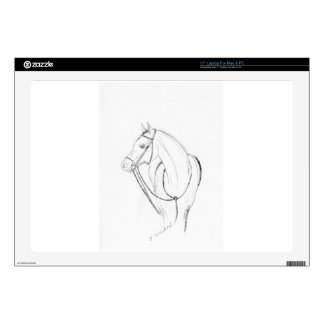 """Horse sketch decal for 17"""" laptop"""
