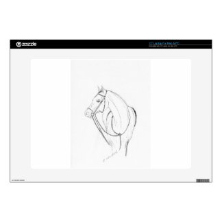 """Horse sketch decals for 15"""" laptops"""