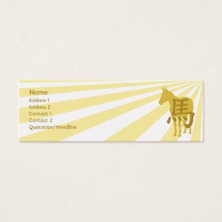 Horse - Skinny Mini Business Card