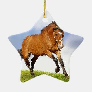 Horse Skittish Christmas Ornament