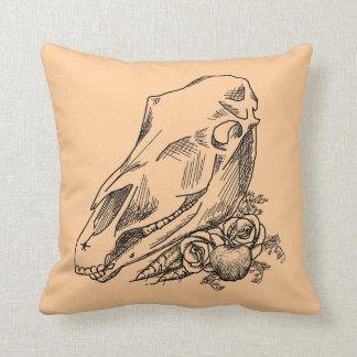 Horse Skull and Offerings to Epona Pillow