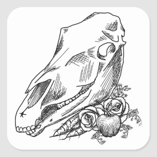 Horse Skull and Offerings to Epona Square Sticker