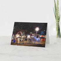 Horse Sleigh Holiday card