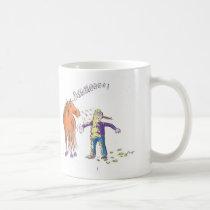 Horse sneezes coffee mug