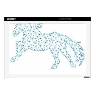 "Horse snowflake new year  , white snowstorm 17"" laptop skin"