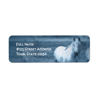Horse Solitude Mailing Label