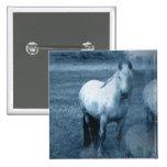 Horse Solitude Square Pin