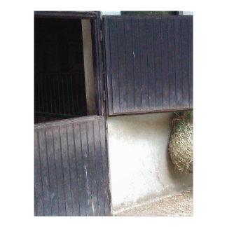 Horse Stable Door Customized Letterhead