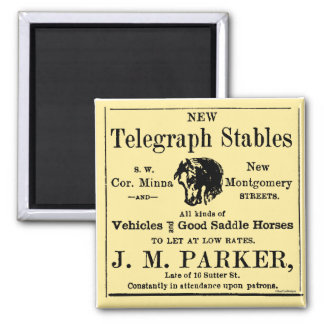 Horse Stable Newspaper Advertisement Magnet
