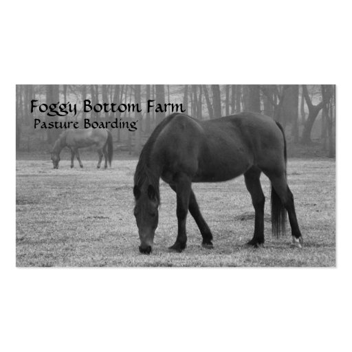 Horse Stables Pasture Business Card