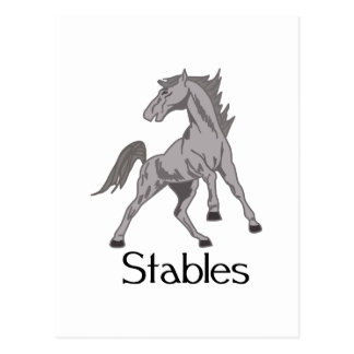 Horse Stables Postcard