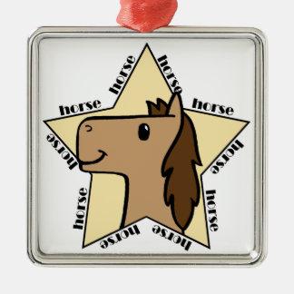 Horse Star Metal Ornament