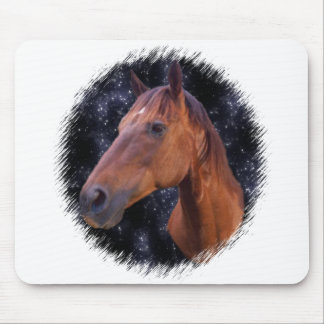 Horse stars mouse pad