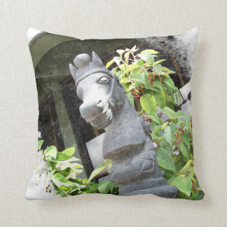 Horse Statue Throw Pillow