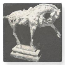 Horse Statuette Stone Coaster