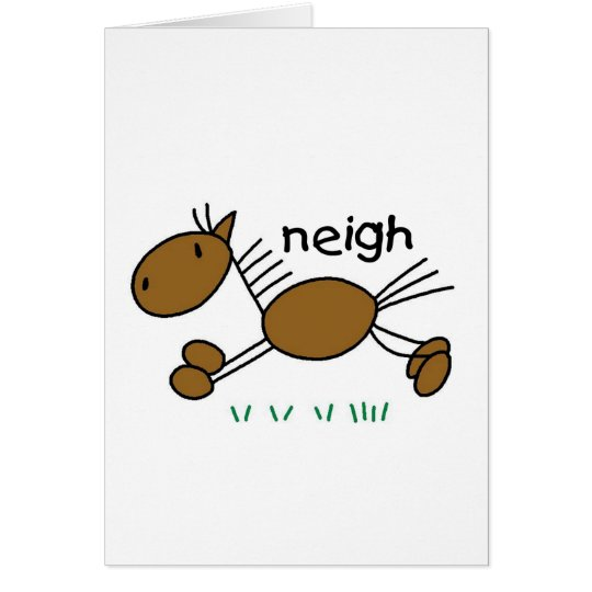Horse Stick Figure Card