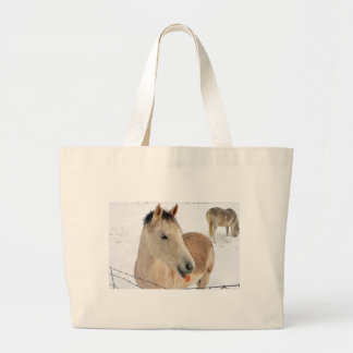 Horse Sticking Tongue Out at Camera! Canvas Bags