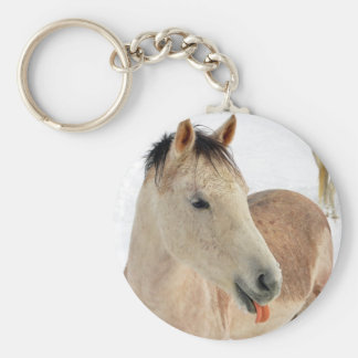 Horse Sticking Tongue Out at Camera! Keychain