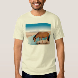 Horse Stops for a Drink in Western Scene T-Shirt