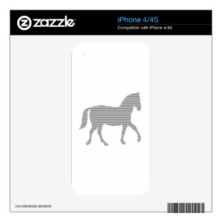 Horse - strips - gray and white. skins for iPhone 4S
