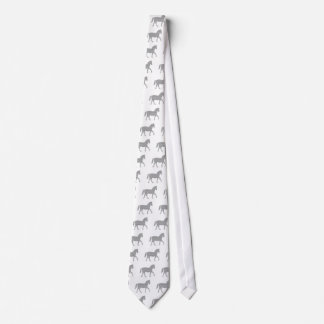 Horse - strips - gray and white. tie