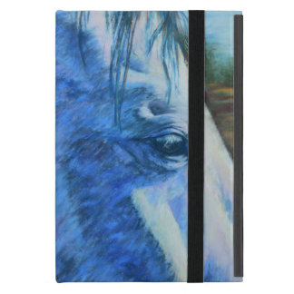 Horse Study in Blue Cases For iPad Mini