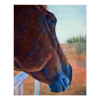 Horse Study in Brown Poster