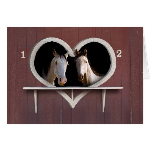 Horse Sweethearts Greeting Card