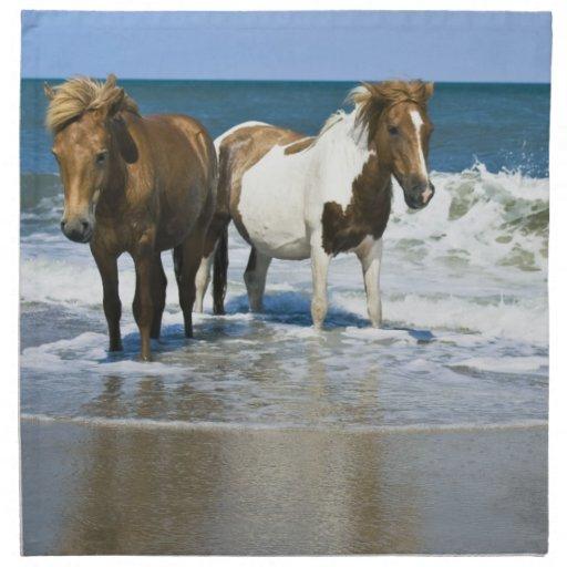 Horse Swim Design Set of Four Napkins
