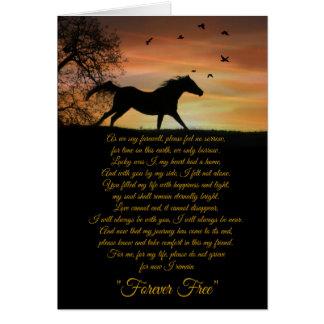 Horse Sympathy Card, Loss of Horse Spiritual Poem Card