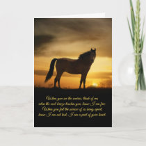 Horse Sympathy Spiritual Poem Card
