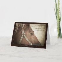 Horse Sympathy With Nice Words Card