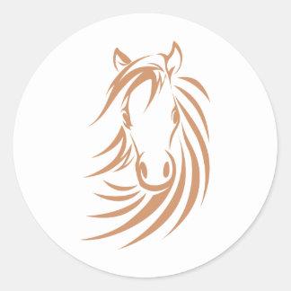 Horse T-shirts, Shirts and Custom Horse Clothing Classic Round Sticker