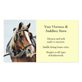 Horse tack store business card