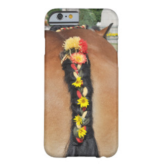 Horse tail and flowers barely there iPhone 6 case