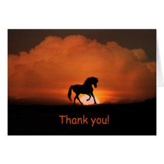 Horse Thank You Card Blank Inside
