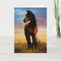 Horse Thank You Note Card
