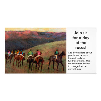 Horse themed party or fundraiser event invitation photo card template