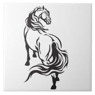 horse large square tile
