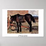 Horse To A Wagon By Fattori Giovanni Print