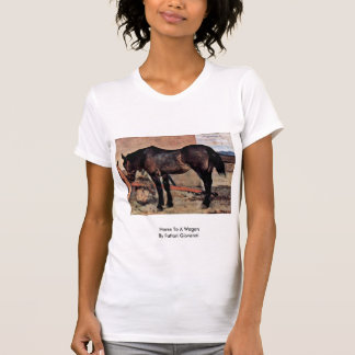 Horse To A Wagon By Fattori Giovanni Tee Shirt