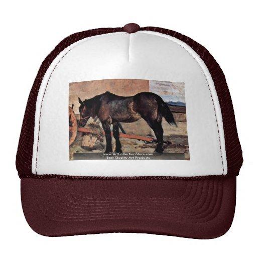 Horse To A Wagon By Fattori Giovanni Trucker Hat