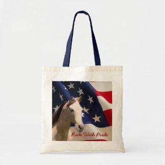 Horse Tote Bag American Flag