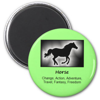 Horse Totem Animal Spirit Meaning 2 Inch Round Magnet