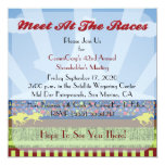 """Horse Track Race Event Corporate Party - 5.25"""" Square Invitation Card"""