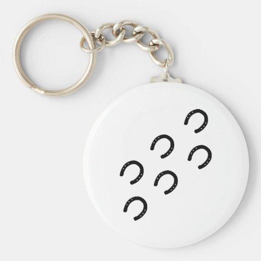 Horse - Tracks Basic Round Button Keychain