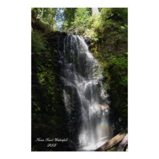 Horse Trail Waterfall Poster